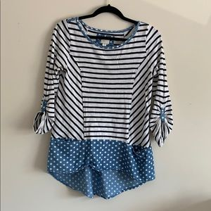 Anthro Striped Top